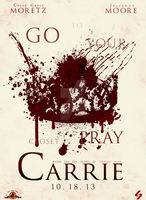 Carrie 2013 Poster by LaCandida