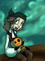 Chilin' with the Pumpkin Child by JamieKinosian