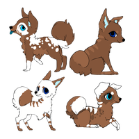 4 Pups for ~Emyli-Aurafire by MichelsAdoptions