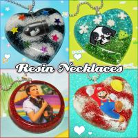 Resin Necklaces by bapity88