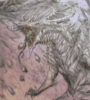 Creature from the Mountains by Abz-J-Harding