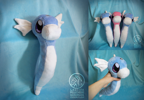 Dratini custom plush by Peluchiere