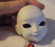 OOAK Elsa (Frozen) BJD - Head WIP by daiin