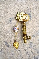 Victorian Key Brooch by wingedlight