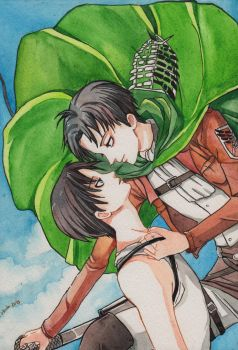 Eren X Levi by spiderlady