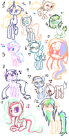 Doodle pones adopts 2 open (5/12) by FallenFateAdopts