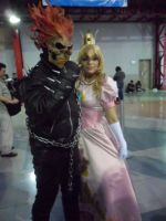 Princess Peach and Ghost Rider by Nao-Dignity