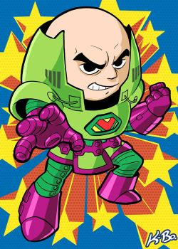 Super Powers Lex Luthor Art Card by kevinbolk