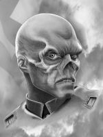RED SKULL W BACKGROUND by corysmithart