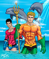Aquaman and Aqualad by Boy-Meets-Hero