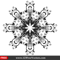 Vector Floral Ornate Decorative Element by 123freevectors