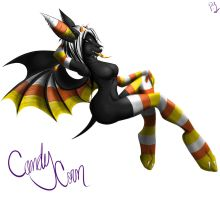 Candy Corn Bat by Vexstacy