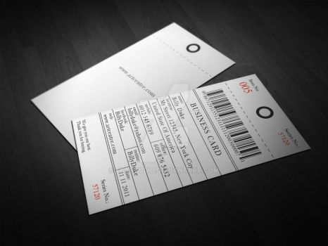 Price Tag Business Card by FBAstudio
