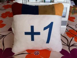 Plus one button pillow by Kavel-WB