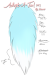 Adopt-A-Tail 003: Pastel Blue with White Tip OPEN! by Xecax