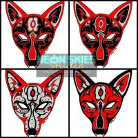 Huntress Hood - Wolf Mask Color Schemes (Rough) by jalachan