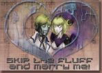 Skip the Fluff and Marry Me - Robo-Ky x Ada Clover by CyberII
