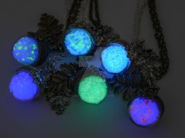 Elvish Glowing Acorn Necklaces by ArchandSoul