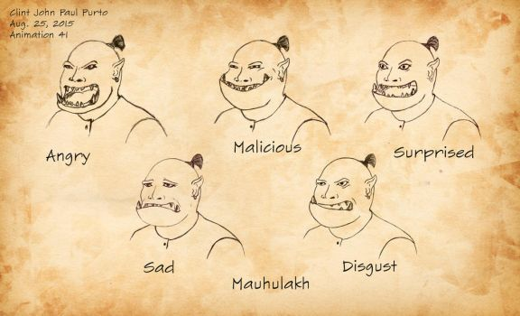 Character Concept 2 - Expressions by ClintTriesToPaint