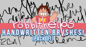 rabbithelps handwritten brushes! pack 01 by rabbithelps