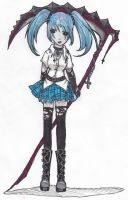 chick with scythe by Explodifirer