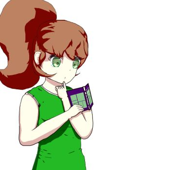 Some person reading a book by Okamiderp