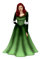 Ariel Christmas Gown by FalseDisposition