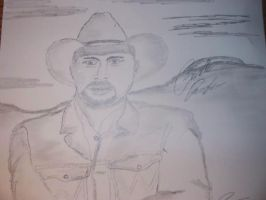Garth Brooks- sketch by 18KyBuschfan