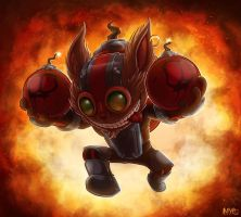 Ziggs, The Hexplosive Yordle by Nayro