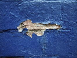 Blue Painted Brick 02 by lobe-stock