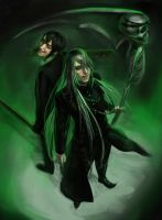 Vincent Phantomhive and Undertaker by Daria-Rise