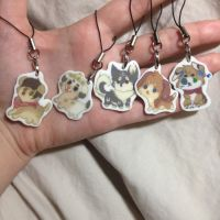 finished charms by Bunniy