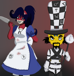 Evil Coco and the Mad Hatter  by EvilCoco95