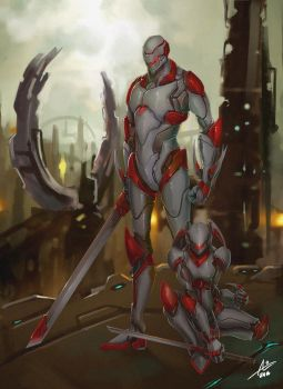 Commission: Mechpair by aiyeahhs