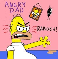 Simpsons, Angry Dad by AVRICCI