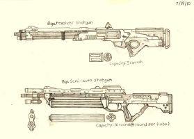 Weapon Concept Art: Shotguns (Part I) by RedW0lf777sg