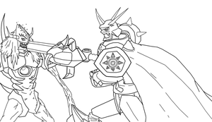 Digimon Lineart by Omnimon1996