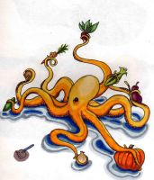 Vegetable Cephalopod by NightmareCrow