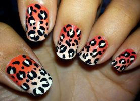 Leopard Print Nails by fractionVerse