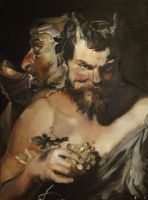 Study of Peter Paul Rubens, Two Satyrs by DymondStarr