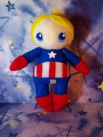 Captin America Plushie by StrawberryParall