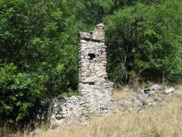 Place 228 - ruins of a house by Momotte2stocks