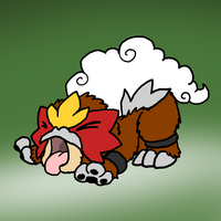 Puppy Entei by DragonwolfRooke