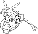 Normal Rayquaza Base by Shqandy
