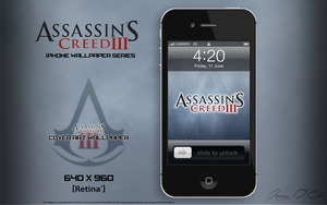 AC3 iPhone Retina Wallpaper - Title Logo by tazerguy