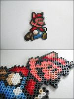 Raccoon Mario bead sprite by 8bitcraft