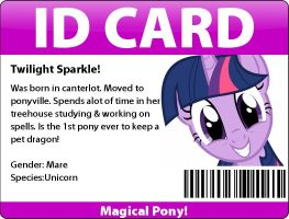 My ID card :D by Twilightsparkless