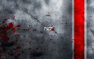 Mass Effect N7 Wallpaper by energy84