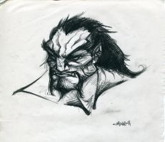 Gray orc - Rough sketch by Ekiriam
