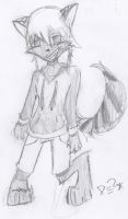 Anthro me (first try drawning like this) by bloodwolf8